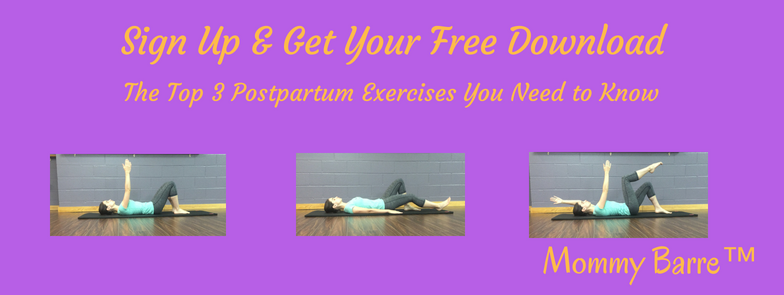 Click to Sign Up and get your FREE Download of the Top 3 Postpartum Exercises You Need to Know